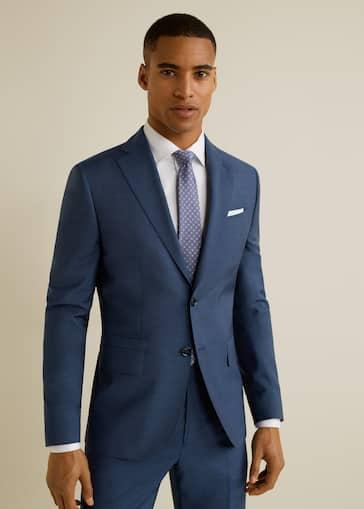 f45890bd839277 Slim-fit virgin wool suit blazer