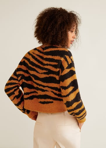Tiger print sweater
