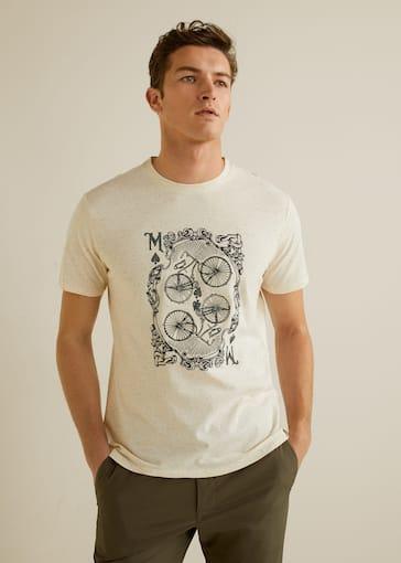 136405882195b Camiseta algodón dibujo - Plano medio