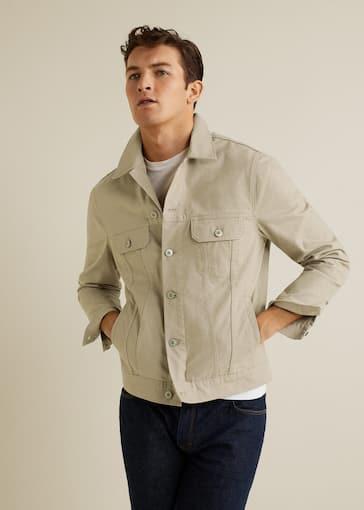 timeless design 4dadc 9ada2 Beige denim jacket