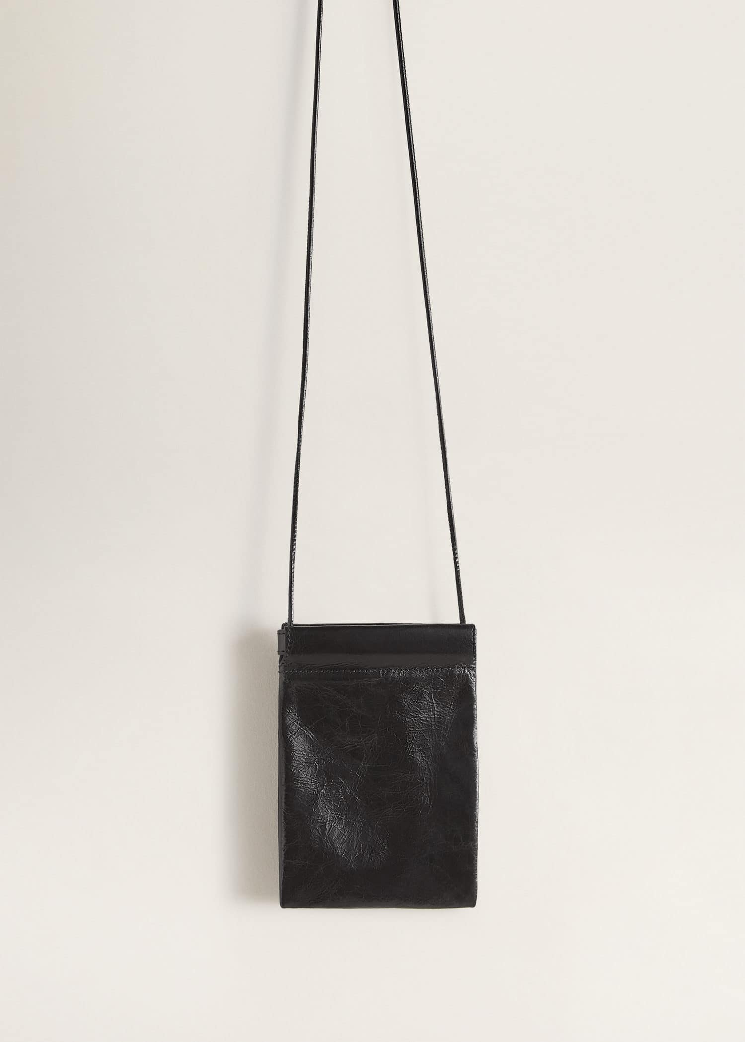 design intemporel ff80a 52d43 Mini sac cuir - Femme | Mango France