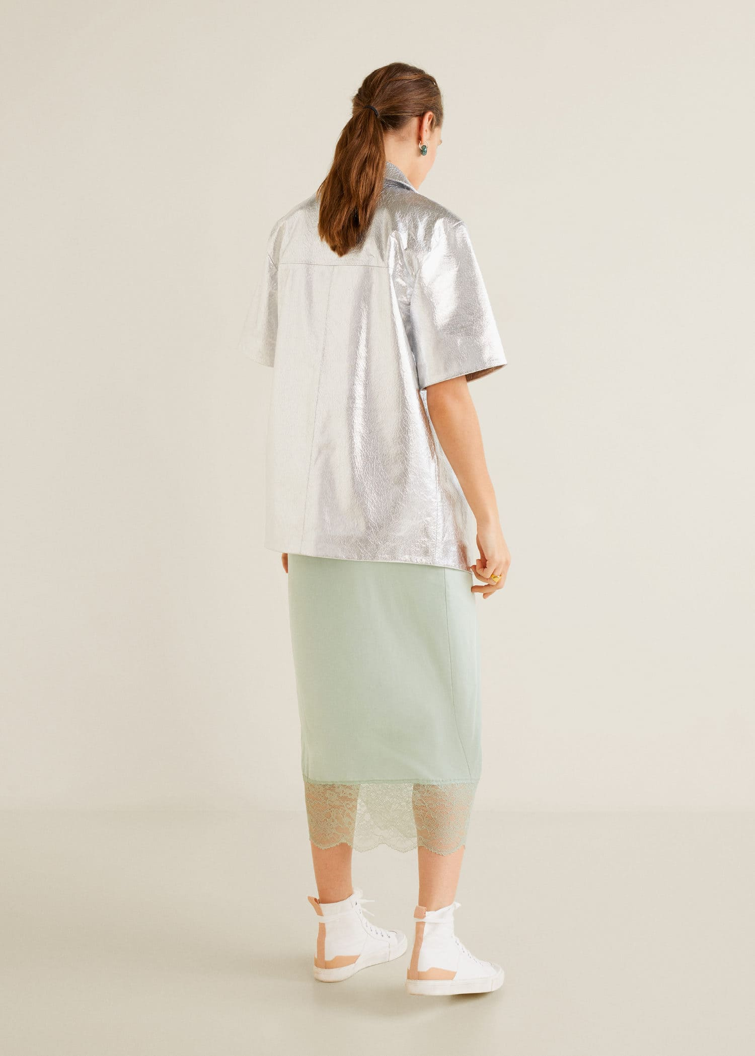 8125fc6a0 Vestido lencero satinado - Mujer | Mango España