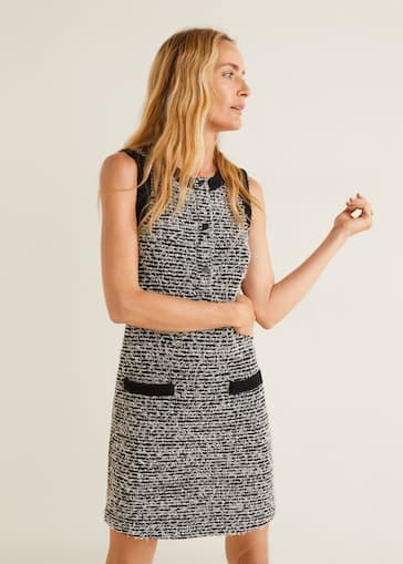 8ccb67ce7e32 Pocket tweed dress - Details of the article 2