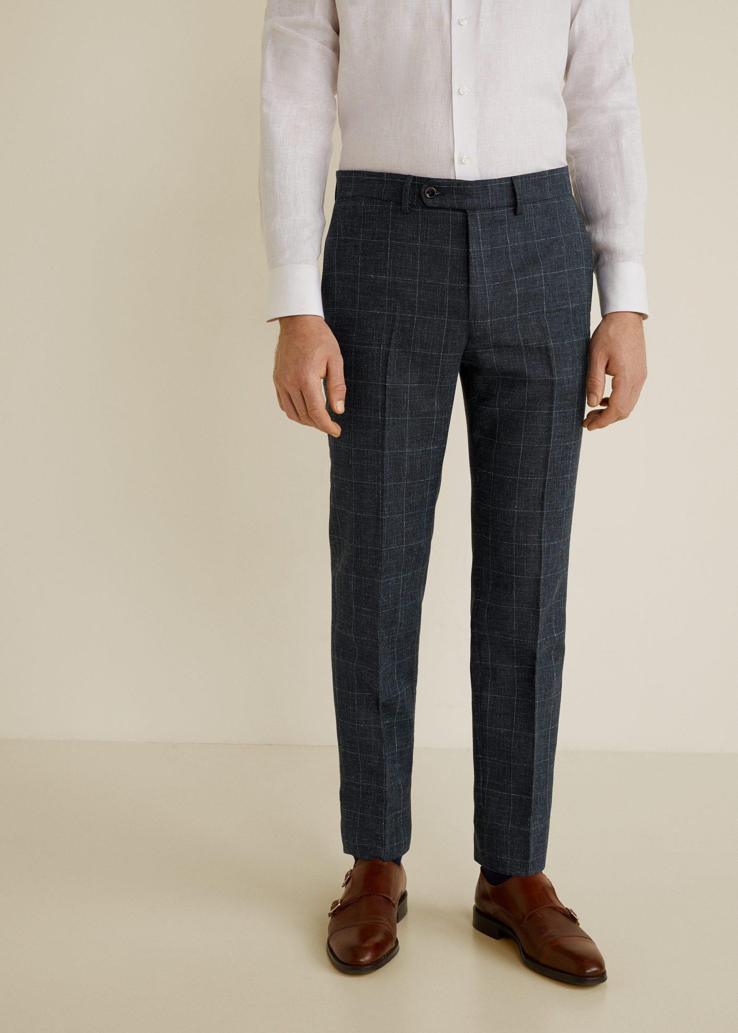 Pantalón traje slim-fit lana virgen - Trajes de Hombre  91455978ff7
