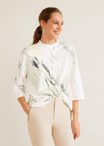 39c4c241bbad Camiseta oversize estampada - Mujer | Mango República Dominicana