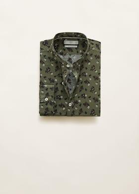 04ea6f13d1 Regular-fit cotton linen-blend shirt - Article without model
