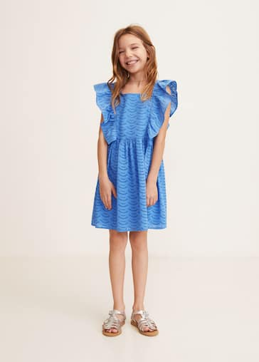 bd262b8c23570 Broderie anglaise Ruffled dress - Medium plane