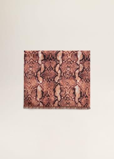 Snake print scarf - Woman   Mango South Korea 03084f8175c