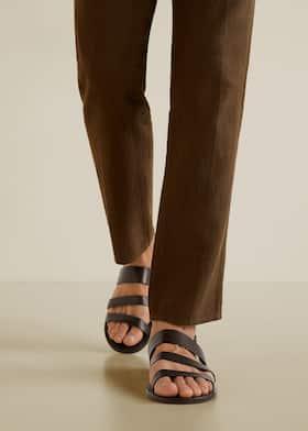 fe4fc04d61f59 Leather gladiator sandals - Man   Mango Man Iran