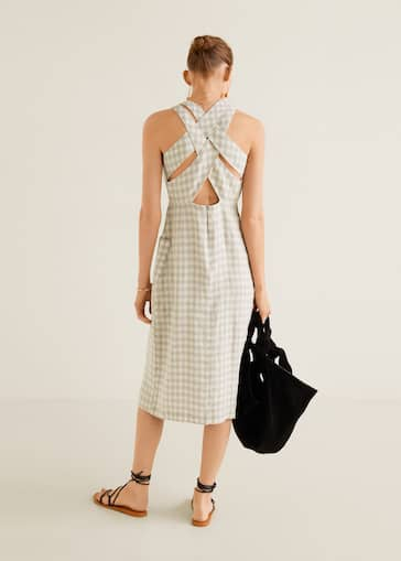 35f76d219e7a Checked linen dress - Reverse of the article