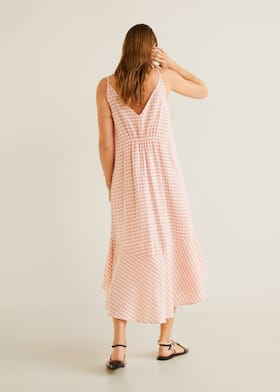 414086289429 Frill cotton dress - Reverse of the article
