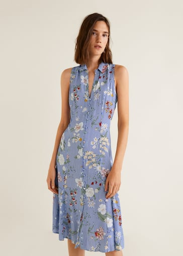 1993b099de73e9 Flowy shirt dress - Woman | Mango Nigeria