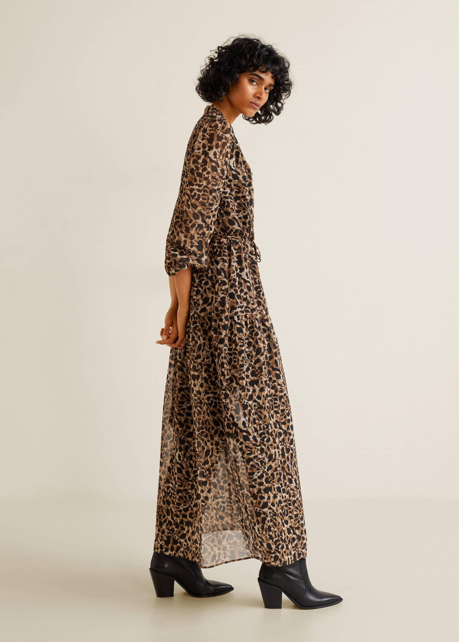Longue Femme Robe Mango Cameroun Léopard dRwqxffYOp