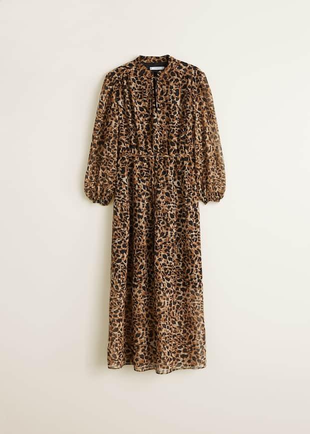 Długa sukienka w cętki