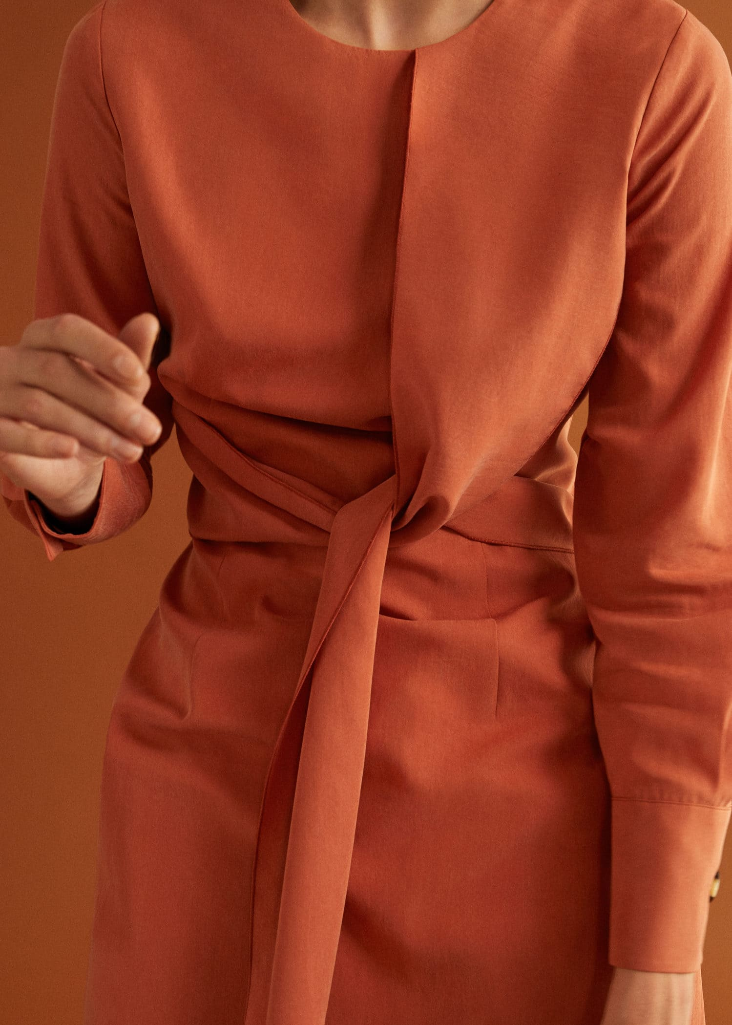 Robe soft nœud Femme | Mango Maroc