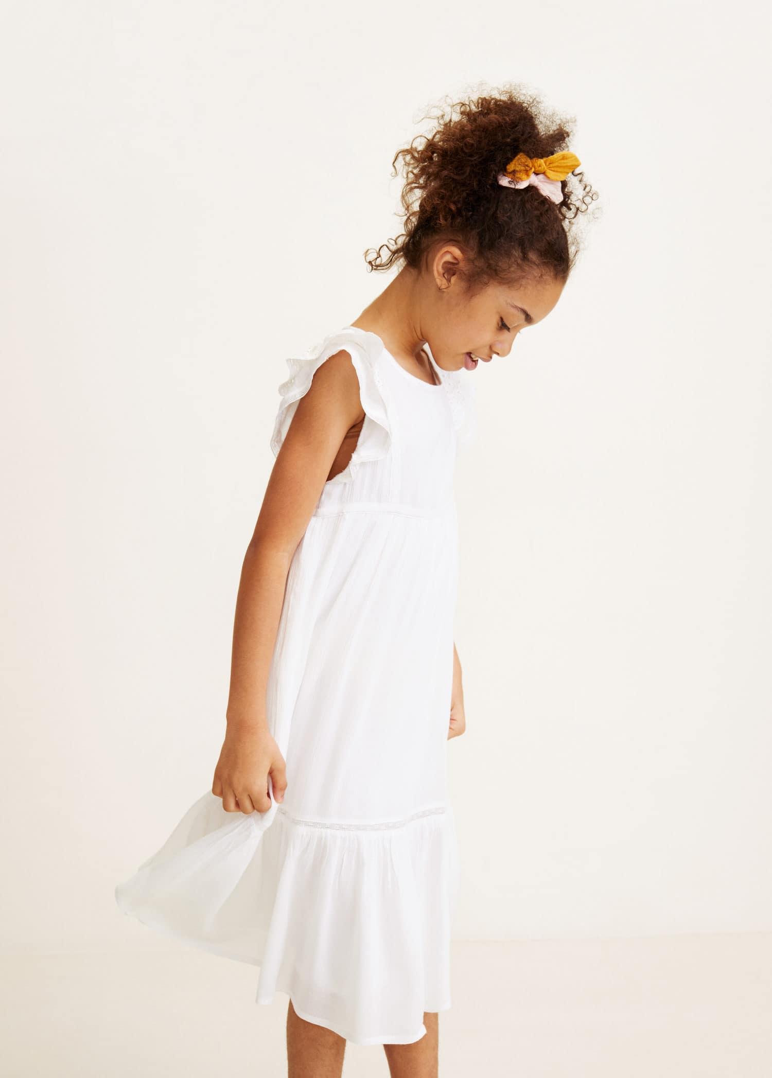 Vestidos blancos lino nina