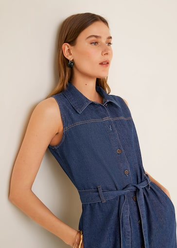 0835dc15f282 Φόρεμα πουκάμισο ντένιμ - Λεπτομέρεια του προϊόντος 2