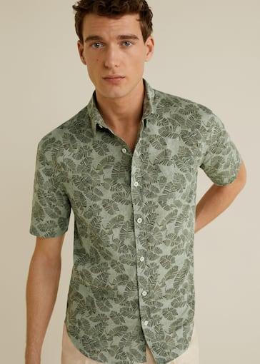 Skjorta regular-fit bomull linne - Bild av mittparti fef93fc8867fa