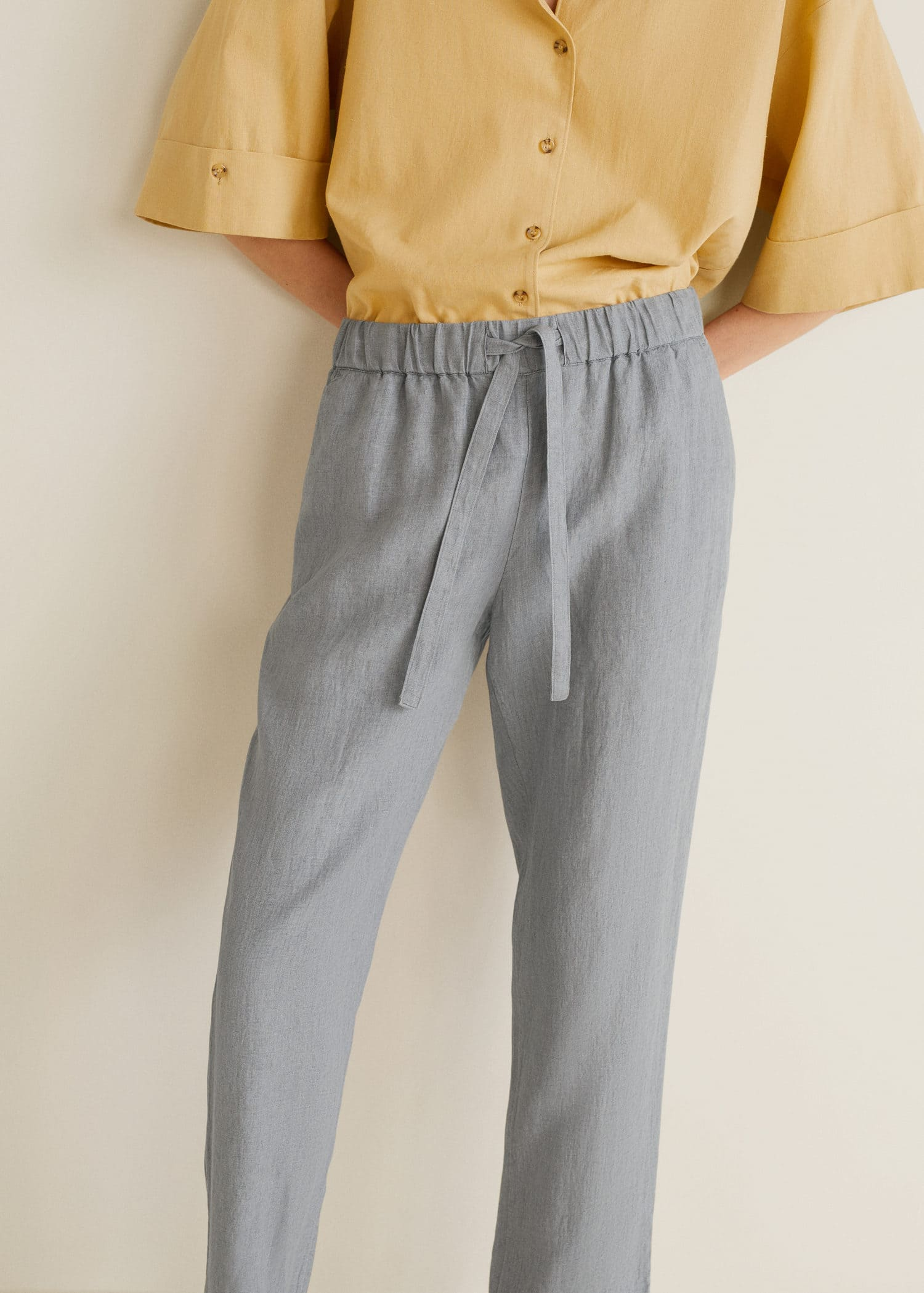 0e08dc48b92bd Mango Düz kesim keten pantolon 1 Mango Düz kesim keten pantolon 3 ...