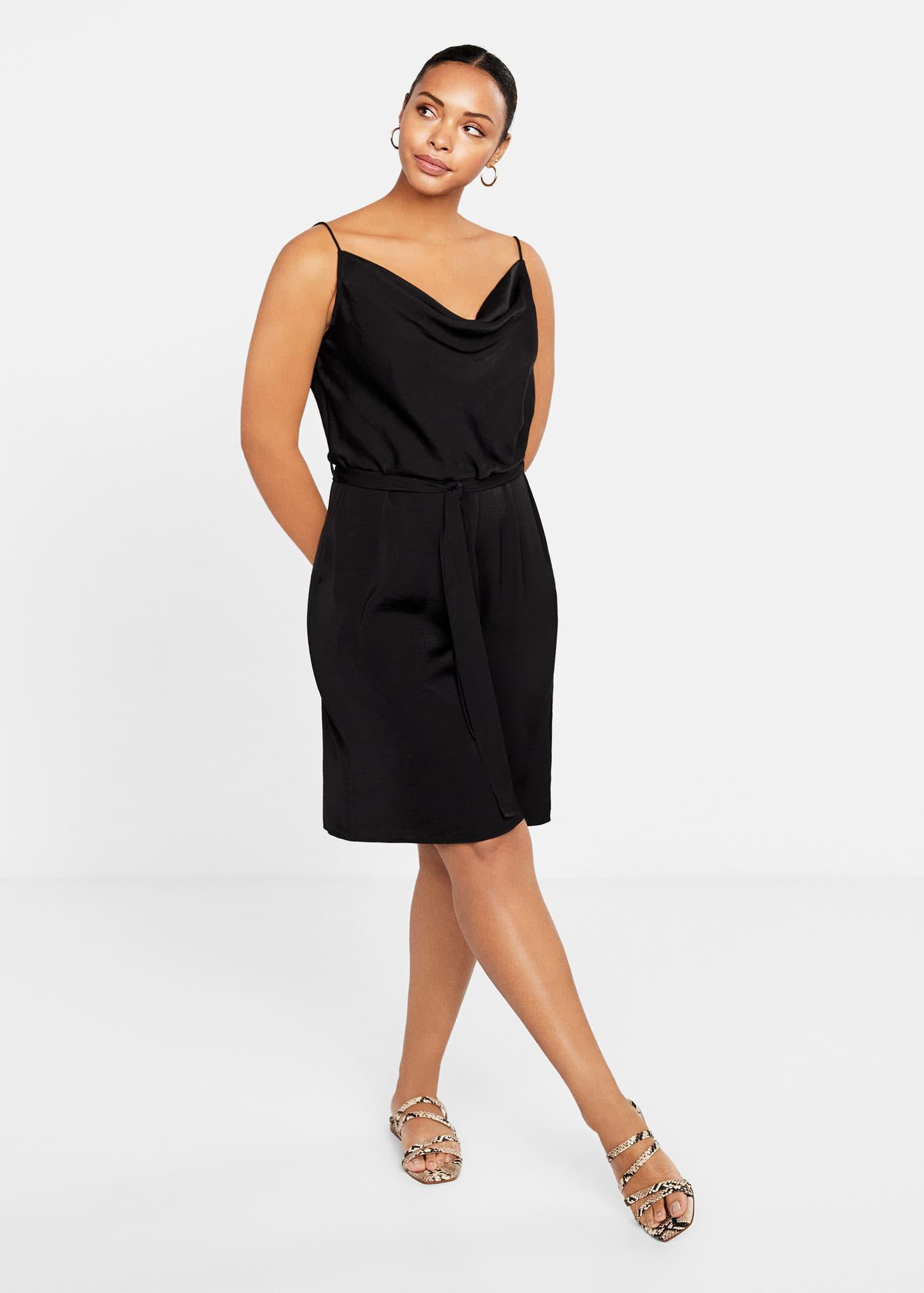 Tie Dress By SizesVioleta Mango Satin Plus Cypruseuros PkNwnOX08