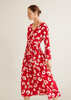 154052e2450 Ruched detail flower dress - Details of the article 3