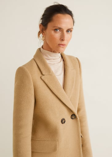 6948f0bb Masculine structured coat - Details of the article 1