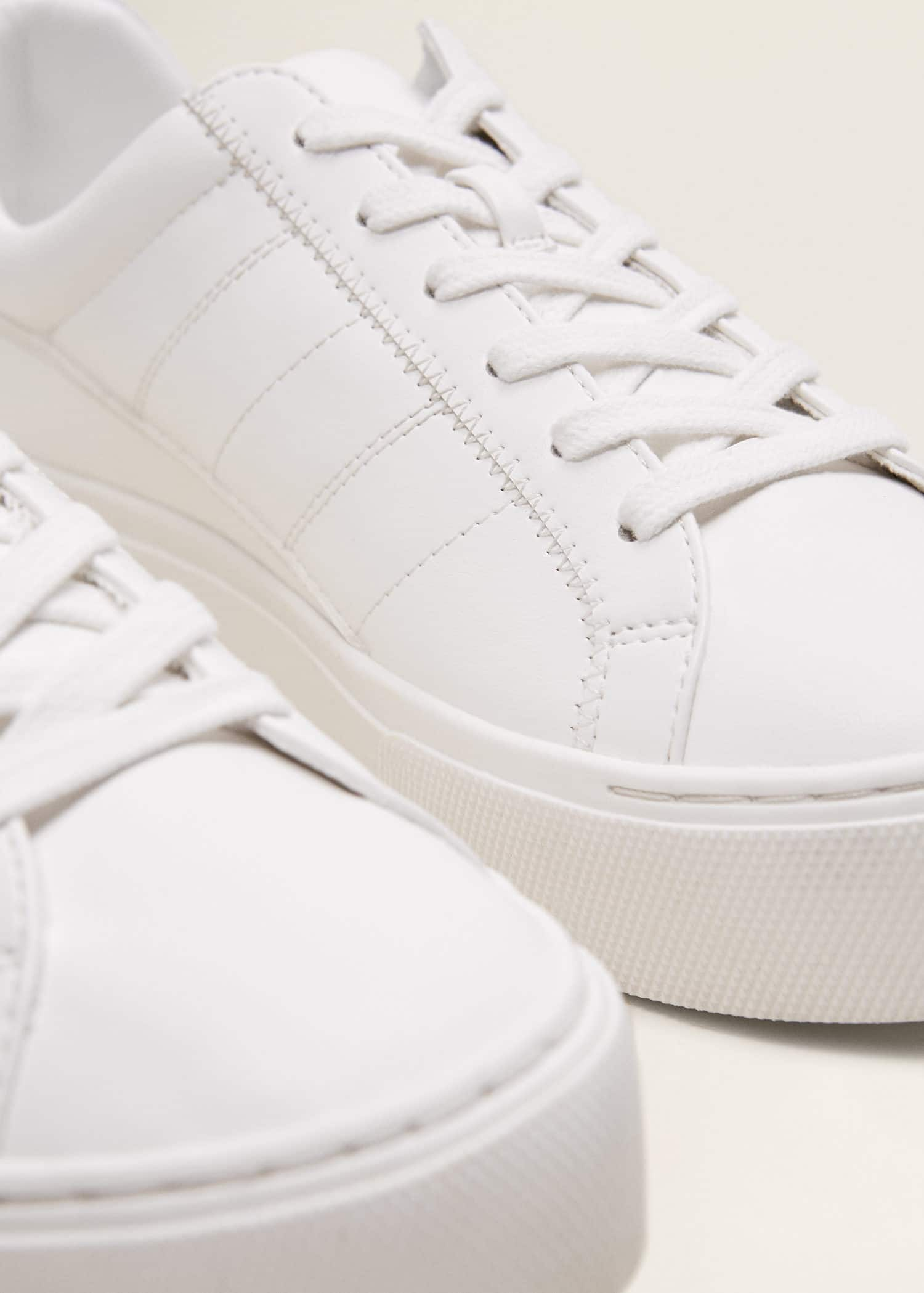 white platform lace up sneakers