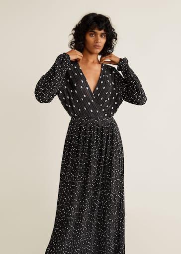 49c04e313c Polka-dot pleated dress - Women