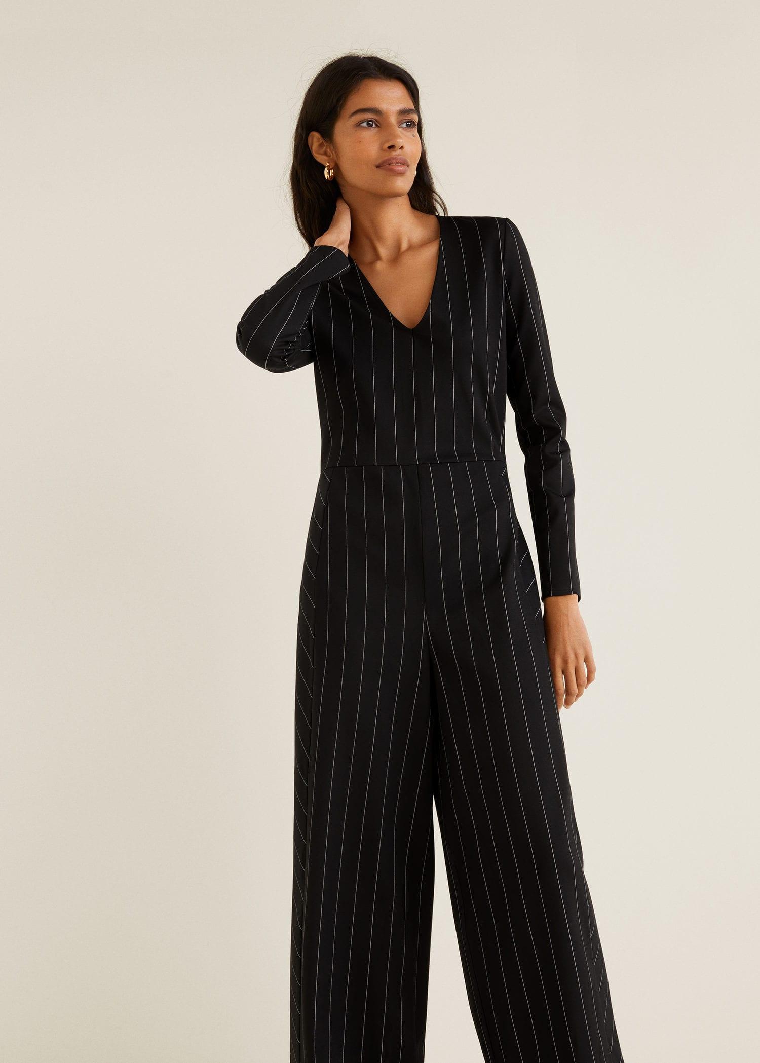 Femme Pantalon France Combinaison Réunion Rayures Mango À la BHxB1nt