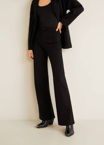 100% authentique 6b721 89267 Flowy straight-fit trousers