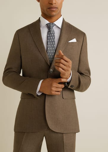 c0e6ec7372884 Americana traje slim-fit lino - Hombre