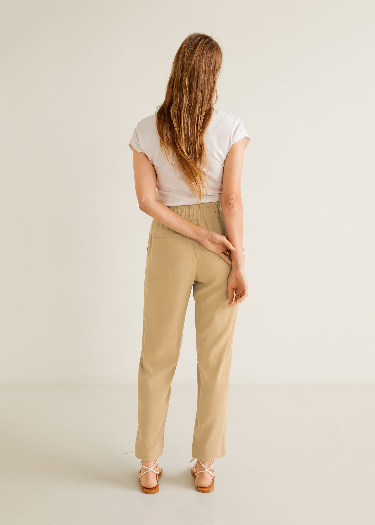 Pantalon taille élastique Femme | Mango France (Guyane