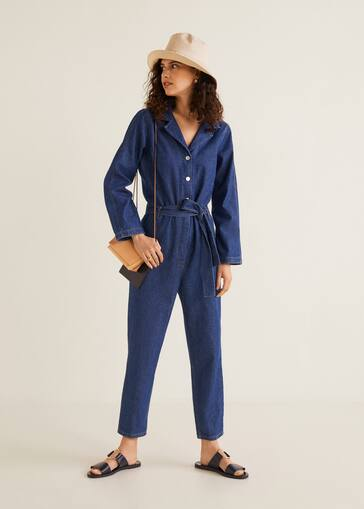 e4ccec4bf659 Long denim jumpsuit - Medium plane