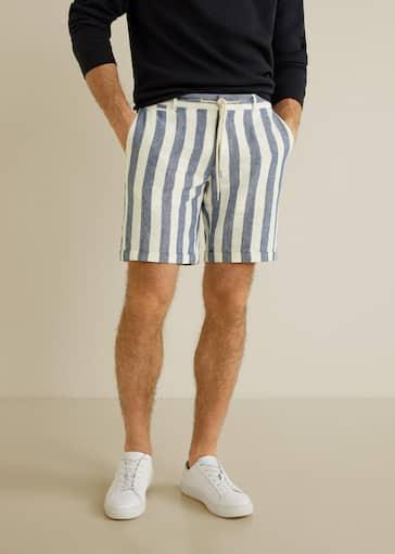 rendimiento superior Excelente calidad gran selección Striped linen-blend bermuda shorts