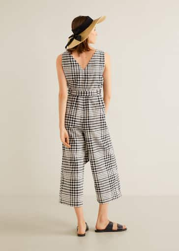 80bfe346dce Gingham check jumpsuit - Reverse of the article