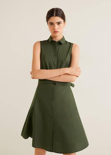 046cc60505 Φόρεμα πουκάμισο μίντι - Λεπτομέρεια του προϊόντος 2