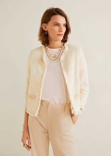 Venta de liquidación 2019 tienda oficial calidad real Tweed cotton jacket
