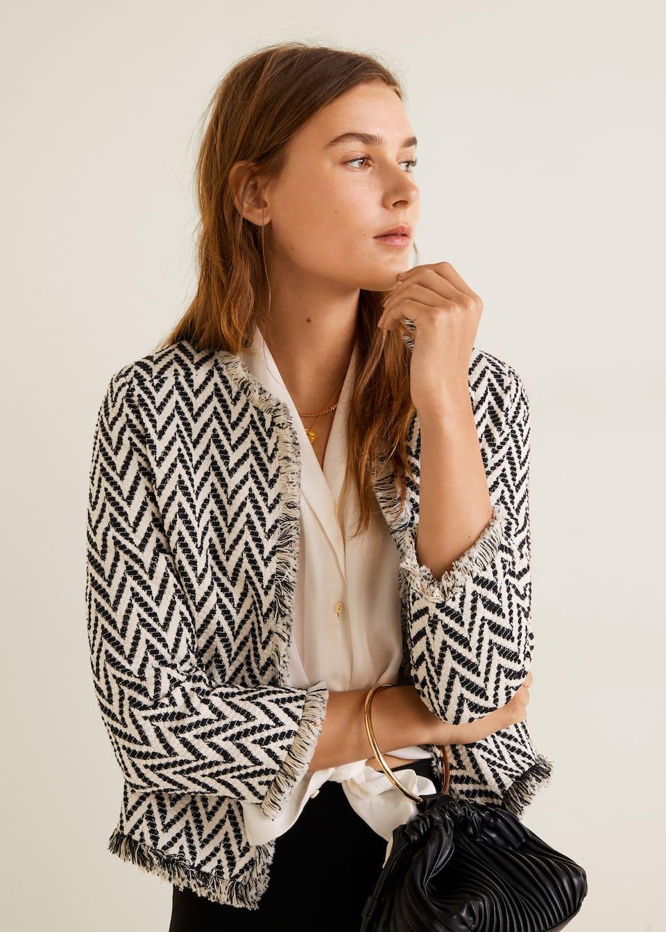 Veste coton tweed