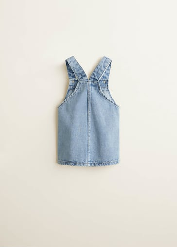dbf406d2b4633 Robe chasuble denim clair - Fille | Mango Kids France