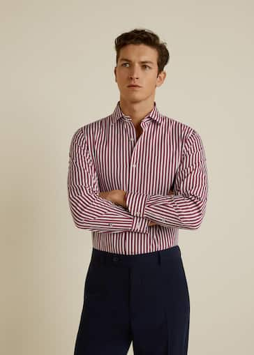 Tailored Fit Overhemd.Chemise Tailored Slim Fit Coton