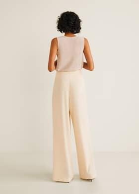Pantalon palazzo croisé - Femme  430bf23bef5b