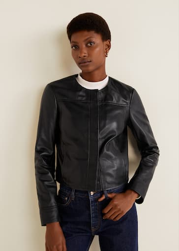 nueva llegada c5c85 499b0 Leather biker jacket