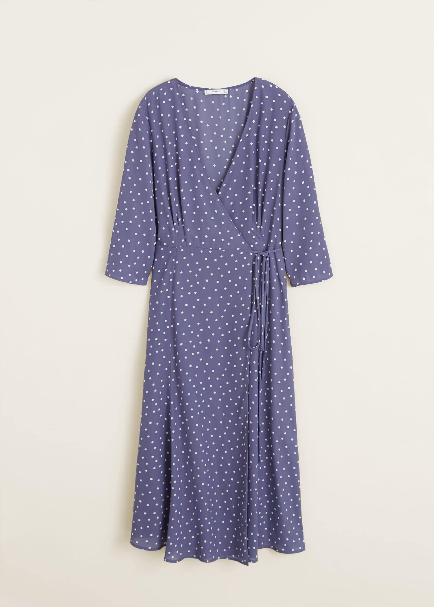 af58d065efe0 Cache France Cœur Femme Robe Pois À Mango dZvPqfw