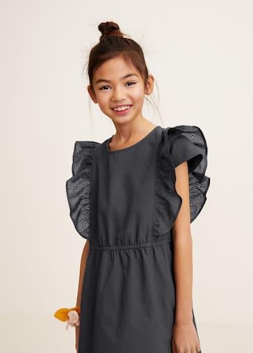2f4e049177ac Φόρεμα βολάν βελονάκι - Μεσαίο πλάνο