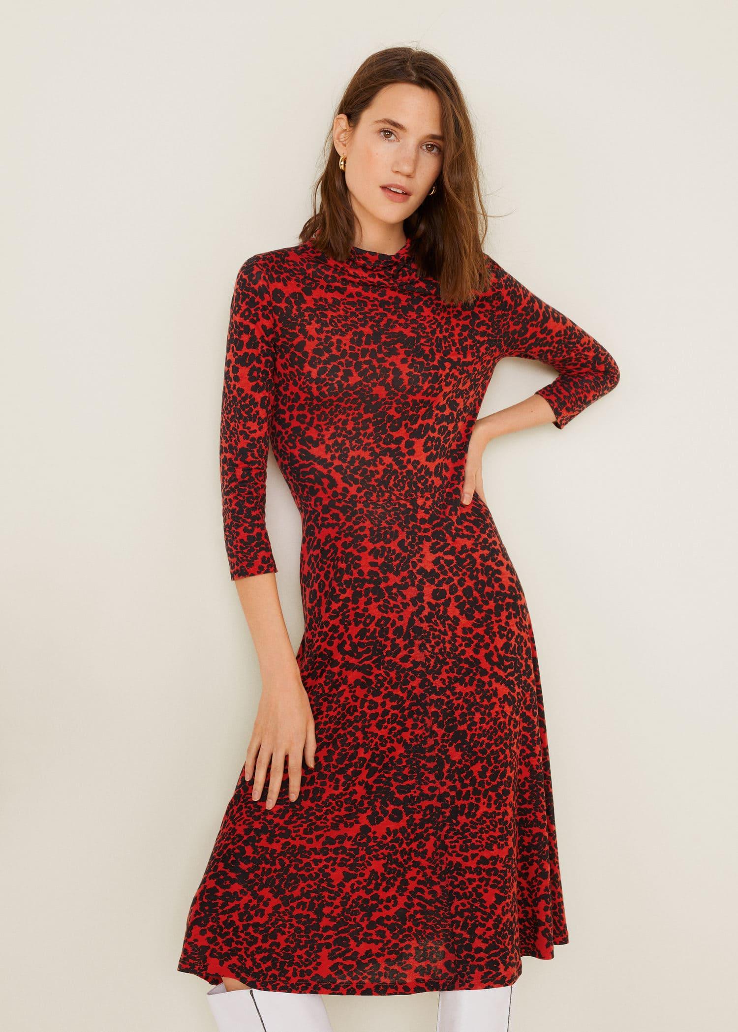 75d8b1a1 Animal print dress - Women | Mango United Kingdom