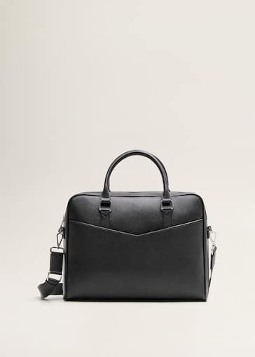 38c196277fe Gegranuleerde koffertas in totestijl met zakken - Artikel zonder model