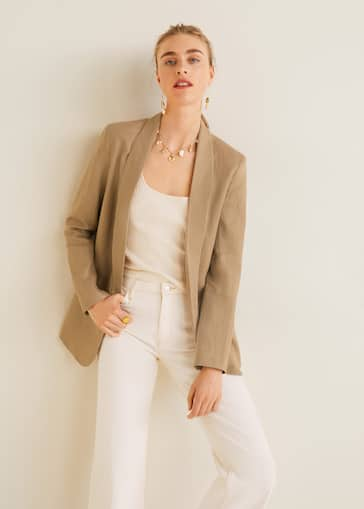 online retailer f4610 bb307 Structured linen jacket