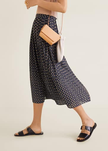 finest selection d0af6 cd47e Polka-dot pleated skirt