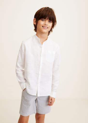 2ae70fb204f4 Camisa lino cuello mao - Detalle del artículo 1