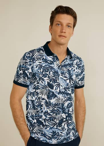 921b3220 Hawaiian printed polo shirt - Man | Mango Man Bahrain
